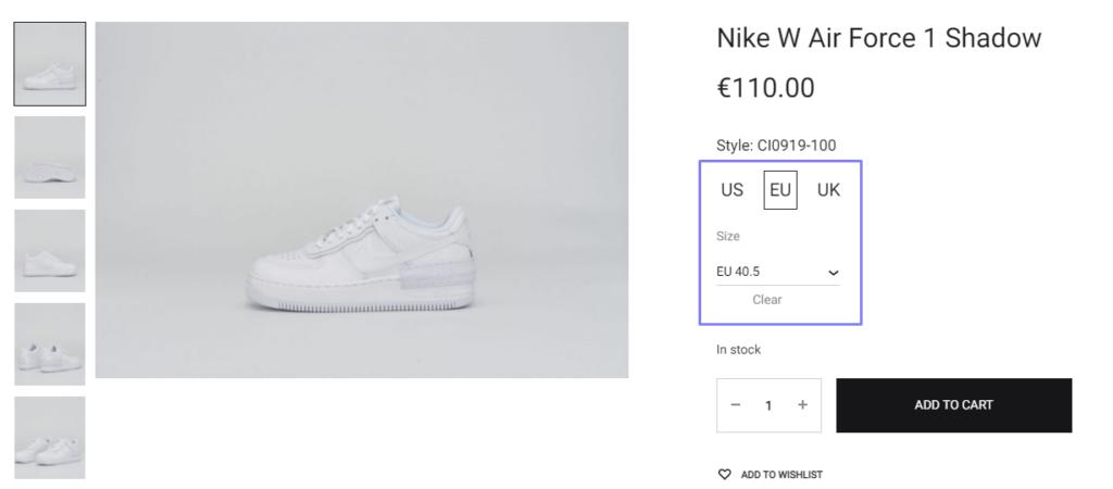 Shoes Size Converter